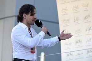 Алексей Попов на подиуме Гран При России