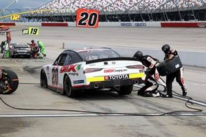 Harrison Burton, Joe Gibbs Racing, Toyota Supra, during a pitstop