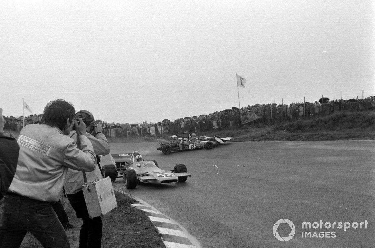 Denny Hulme, McLaren M19A Ford, Nanni Galli, March 711 Ford, Francois Cevert, Tyrrell 002 Ford