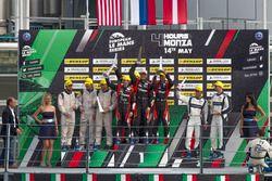 LMP2 podyum: Yarış galibi #22 G-Drive Racing, Oreca 07 - Gibson: Memo Rojas, Ryo Hirakawa, Leo Rouss