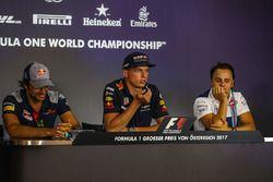 Carlos Sainz Jr., Scuderia Toro Rosso, Max Verstappen, Red Bull Racing en Felipe Massa, Williams