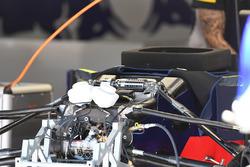 Scuderia Toro Rosso STR12, sospensione anteriore e dettaglio del telaio