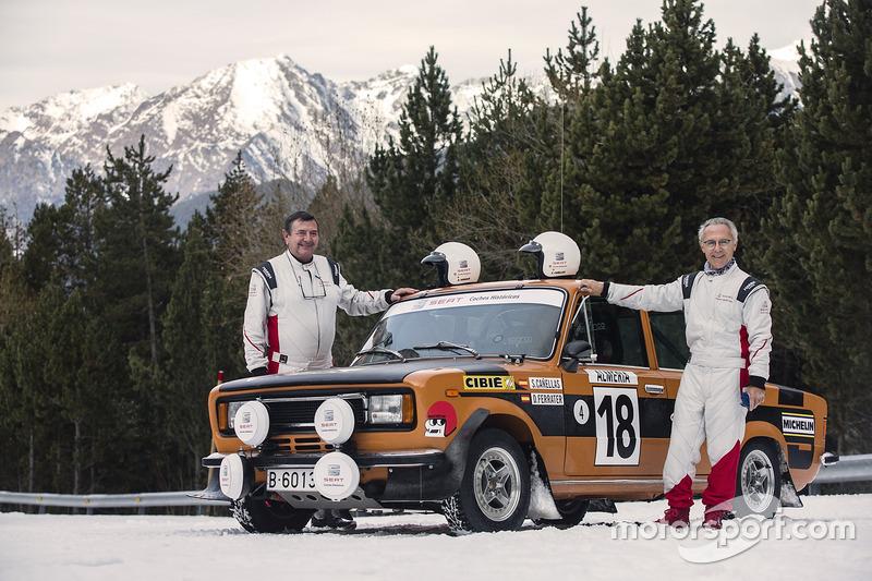 Salvador Cañellas y Daniel Ferrater con el 124 Especial 1800 restaurado