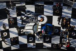 Race winners #12 Bodymotion Racing Porsche Cayman GT4: Cameron Cassels, Trent Hindman