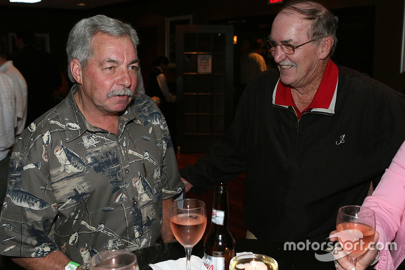 NASCAR VP of Corporate Communications Jim Hunter and former NASCAR Busch series driver Tommy Houston