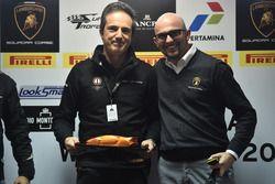 Tancredi Pagiaro, titolare e team principal di Lazarus, e Giorgio Sanna, head of motorsport di Automobili Lamborghini