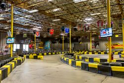 Karting track atmosphere