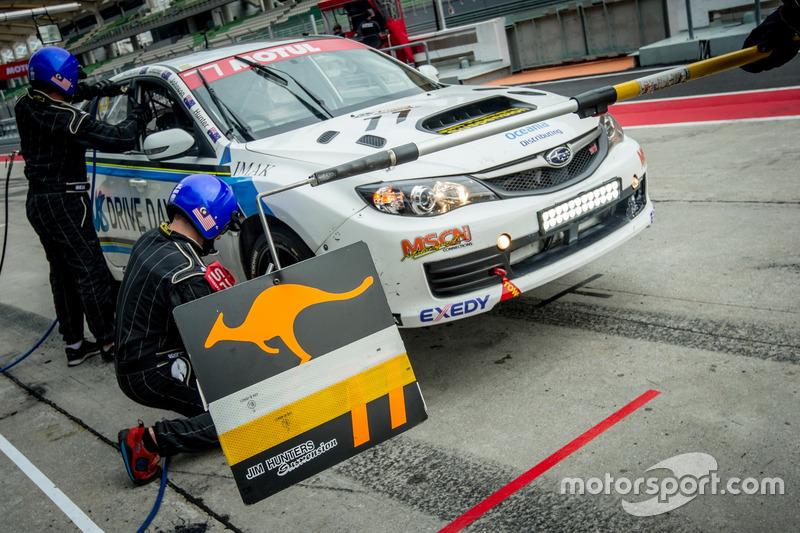 #77 Jim Hunter Motorsport, Subaru STi Impreza 2.0, Jim Hunter, Grant Johnson, Andrew MacPherson, Allan Letcher