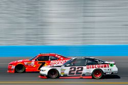 Justin Allgaier, JR Motorsports Chevrolet and Ryan Blaney, Team Penske Ford