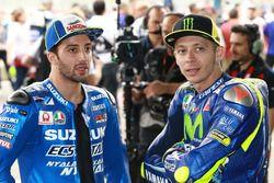 Andrea Iannone, Team Suzuki MotoGP; Valentino Rossi, Yamaha Factory Racing