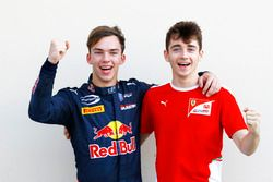 Champions in GP2 and GP3: Pierre Gasly, PREMA Racing and Charles Leclerc, ART Grand Prix