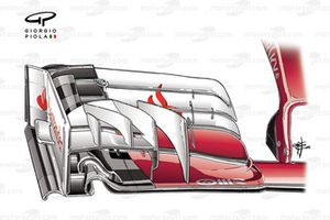 Переднее антикрыло Ferrari SF16-H