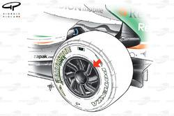 Flasque de la Force India VJM02