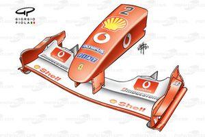 Переднее антикрыло и носовой обтекатель Ferrari F2003-GA (654)