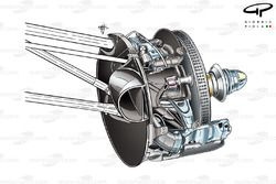 Toro Rosso STR7 front brake assembly (old caliper poisition)