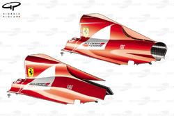 Comparaison des capots moteurs de la Ferrari 150° Italia