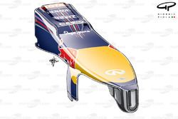 Red Bull RB10 nose detail