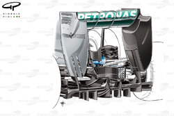 L'arrière de la Mercedes W05