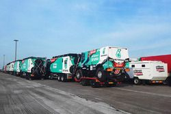 Team De Rooy Iveco trucks ready for the long journey to Buenos Aires