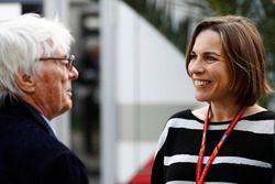 Bernie Ecclestone mit Claire Williams, stellvertetende Williams-Teamchefin