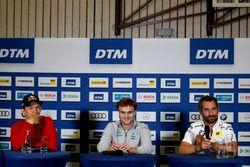 Press Conference, Mattias Ekström, Audi Sport Team Abt Sportsline, Audi A5 DTM, Lucas Auer, Mercedes