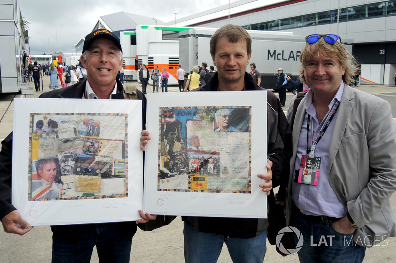 Keith Sutton, Sutton Images CEO and Mark Dickens, Artist present Michael Schmidt, Journalist with hi