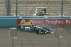 Choque de Alexander Rossi, Herta - Andretti Autosport Honda