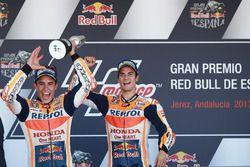 Podium: Race winnaar Dani Pedrosa, Repsol Honda Team, tweede plaats Marc Marquez, Repsol Honda Team