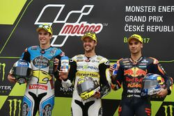 Podium: race winner Thomas Luthi, CarXpert Interwetten, second place Alex Marquez, Marc VDS, third p