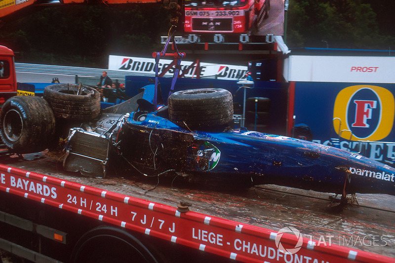 Spa 2001 : accident de Luciano Burti