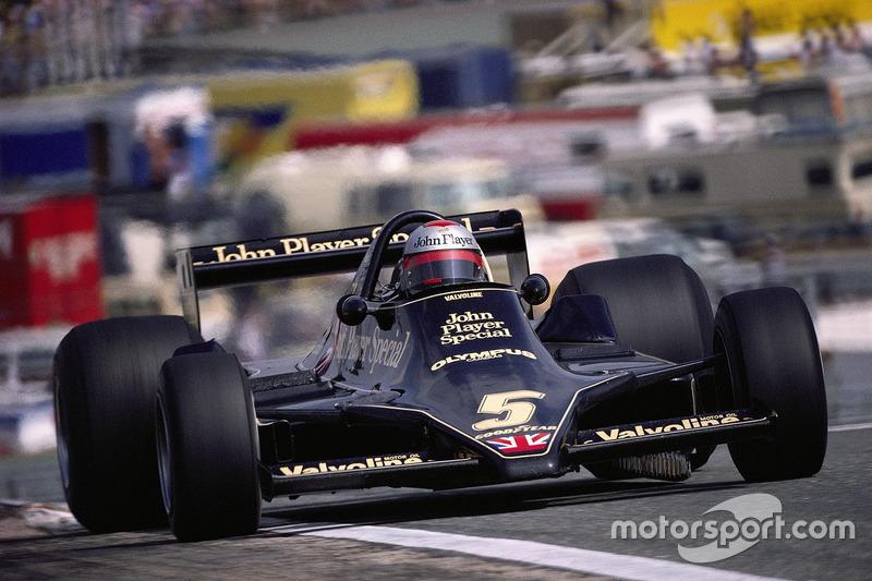 Маріо Андретті за кермом нового Lotus 79