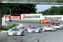 #1 AMG Mercedes-Benz CLK-LM: Bernd Schneider, Mark Webber, #2 AMG Mercedes-Benz CLK-LM: Klaus Ludwig