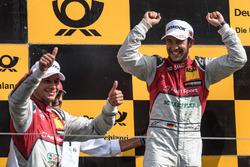 Podium: Loic Duval, Audi Sport Team Phoenix, Audi RS 5 DTM, Mike Rockenfeller, Audi Sport Team Phoen