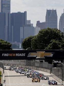Start: Takuma Sato, Andretti Autosport, Honda, führt