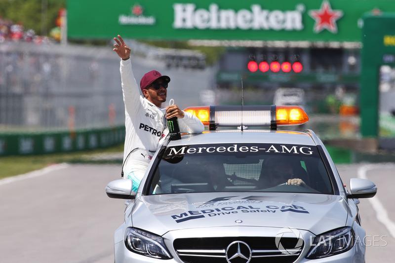 Обладатель поула Льюис Хэмилтон, Mercedes AMG F1