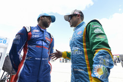 Darrell Wallace Jr., Roush Fenway Racing Ford, Casey Mears, Biagi-DenBeste Racing Ford