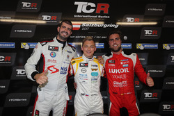 Press Conference: Pole sitter Mato Homola, DG Sport Compétition, Opel Astra TCR, Dusan Borkovic , GE-Force, Alfa Romeo Giulietta TCR, Pepe Oriola, Lukoil Craft-Bamboo Racing, SEAT León TCR