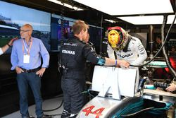 Patrick Stewart y Lewis Hamilton, Mercedes-Benz F1 W08