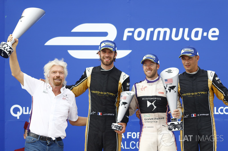 Richard Branson, Jean-Eric Vergne, Techeetah, Sam Bird, DS Virgin Racing, Stéphane Sarrazin, Techeetah