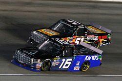 Ryan Truex, Hattori Racing Enterprises Toyota and Myatt Snider, Kyle Busch Motorsports Toyota