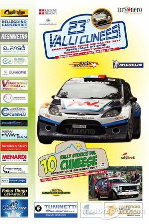 Affiche 23ème édition du Rally Valli Cuneesi