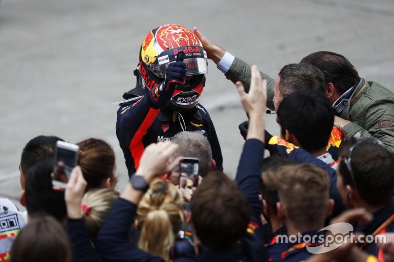 Max Verstappen, Red Bull, con su padre Jos Verstappen