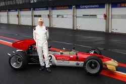 Adrian Newey with the Lotus 49B