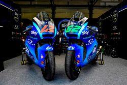 Stefano Manzi, Sky Racing Team VR46 and Francesco Bagnaia, Sky Racing Team VR46 bikes with