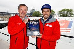Fernando Alonso, Andretti Autosport, Honda; Johnny Rutherford