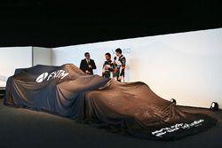 David Croft, Sky Sports con Sergio Pérez, Sahara Force India F1 y Esteban Ocon, Sahara Force India F