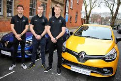 (L to R): Jolyon Palmer, Renault Sport F1 Team with Sergey Sirotkin, Renault Sport F1 Team Third Dri