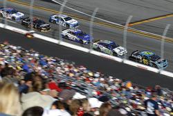 Michael McDowell, Leavine Family Racing Chevrolet; Ty Dillon, Germain Racing Chevrolet; Joey Gase, BK Racing Toyota; Elliott Sadler, Tommy Baldwin Racing Chevrolet