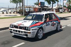 Mark Webber drives the Lancia Delta Integrale