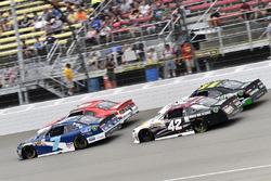 Justin Allgaier, JR Motorsports Chevrolet and Tyler Reddick, Chip Ganassi Racing Chevrolet